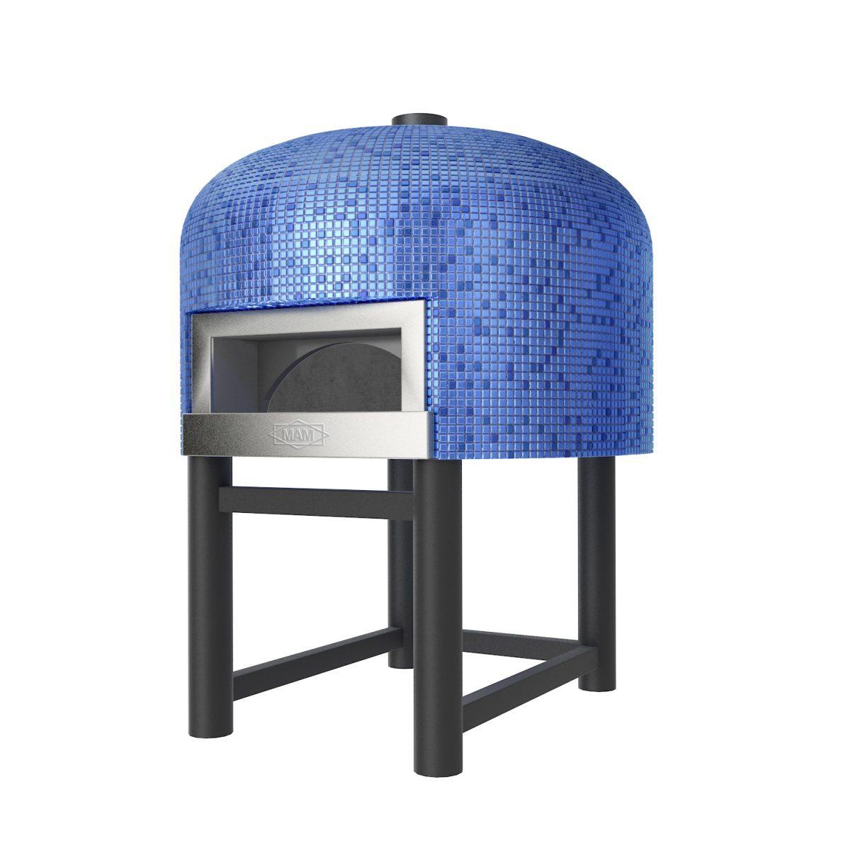 Steenoven blauw mozaïek pizzaoven