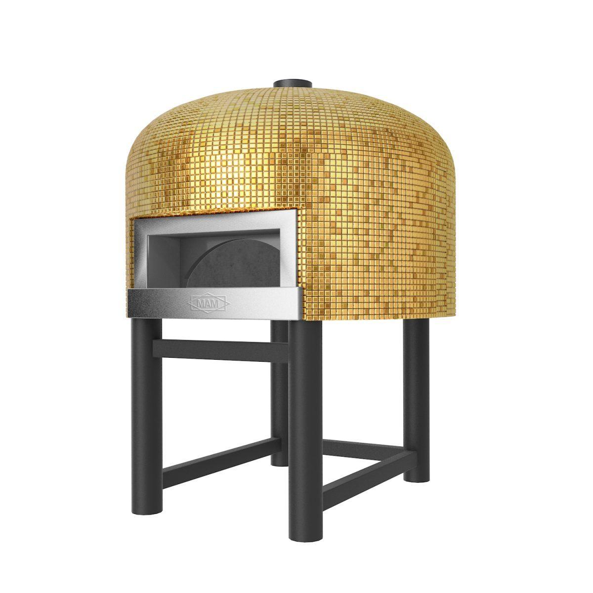 Steenoven Pizzaoven Napoli goud